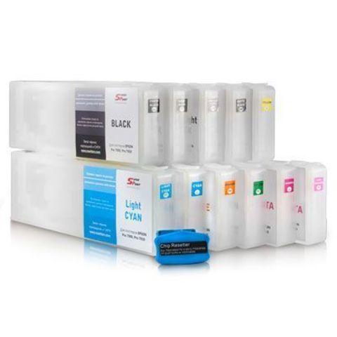 Перезаправляемые картриджи для плоттеров Epson Stylus Pro 7900/7910/9900/9910. 11 картриджей.