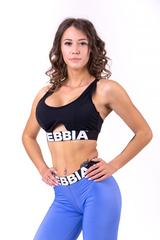 Женский топ Nebbia athletic cut out sport bra 695 black