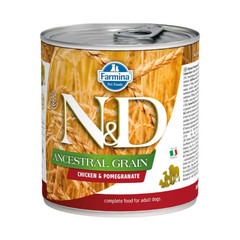 Фармина N&D Ancestral Grain 285 гр консервы для собак курица с гранатом