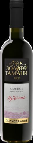 Вино ЗОЛОТО ТАМАНИ столовое полусладкое красное  0,7