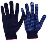 Перчатки трикотажные ПВХ Точка (черный) 10 кл 5ти нитка (1мешок - 400 пар/ упак 10 пар)