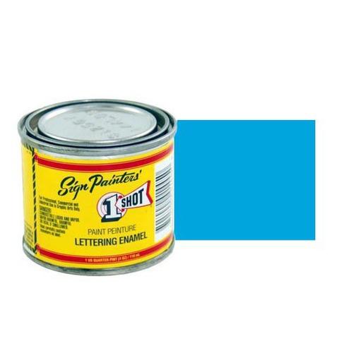 153-L Эмаль для пинстрайпинга 1 Shot Голубой (Process Blue), 118 мл