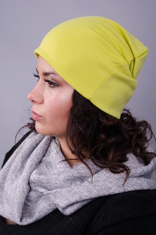 Фэшн. Молодёжные женские шапки. Салатовый.