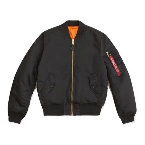 Куртка бомбер Alpha Industries MA-1 Slim Fit/European Fit Black (черная)