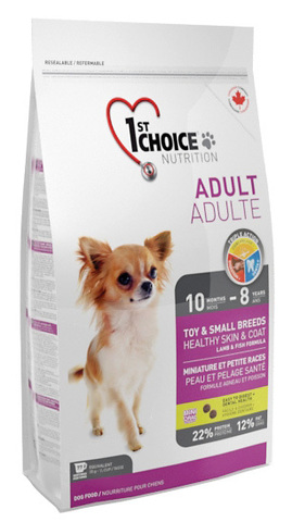 1st Choice Adult Toy & Small Breeds HEALTHY SKIN & COAT Dog