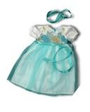 Платье из тафты - Бирюзовый. Одежда для кукол, пупсов и мягких игрушек.
