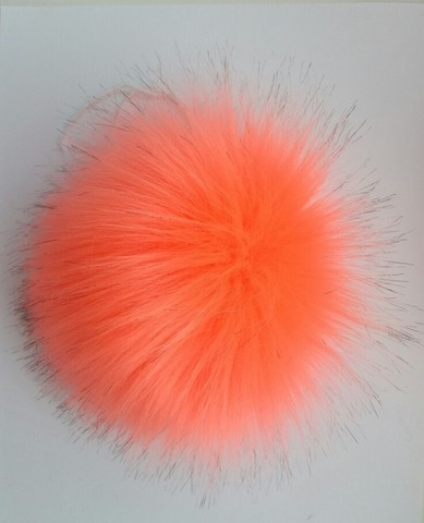 Помпон искусственный оранжевый