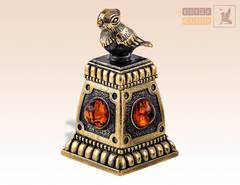 колокольчик Чижик с янтарем