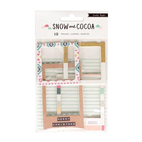 Рамочки из чипборда  Snow & Cocoa от Crate Paper -12шт