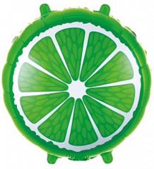 Шар (18''/46 см) Круг, Лайм, Зеленый, 1 шт.