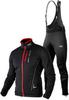 Утеплённый лыжный костюм 905 Victory Code Speed Up Black с высокой спинкой мужской