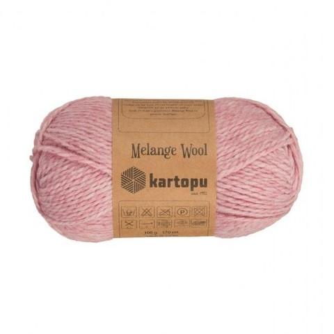 Пряжа Kartopu Melange Wool арт. 110 розовый