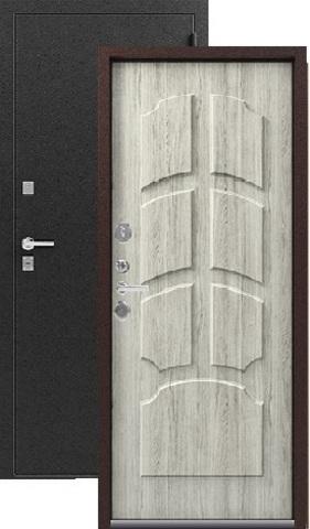 Дверь входная Легион T-2, 2 замка, 1,8 мм  металл, (чёрный муар+дуб полярный)