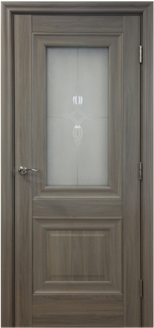 > Экошпон Profil Doors №28Х-Классика, стекло узор, цвет орех пекан, остекленная