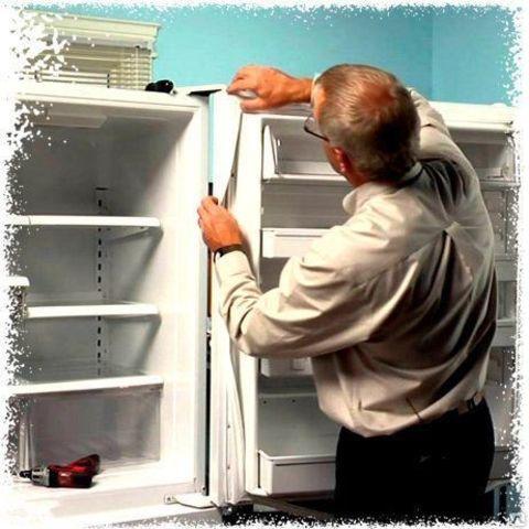 Установка уплотнителей на холодильники с типом крепления
