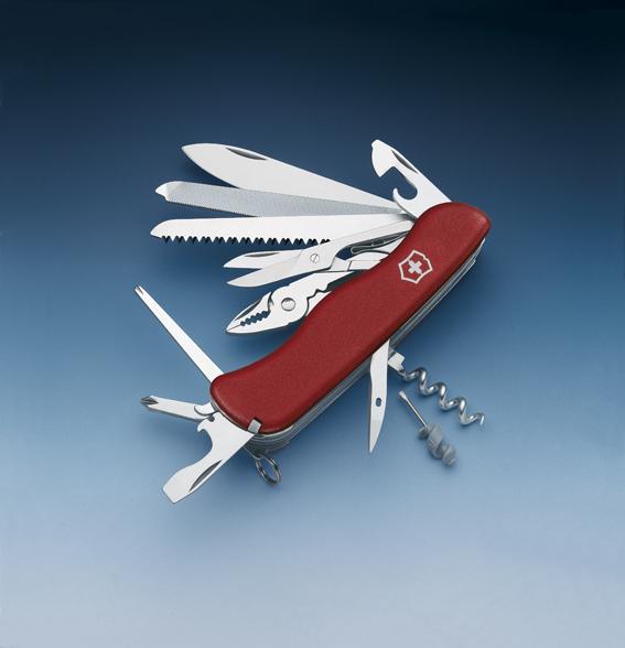 Нож Victorinox WorkChamp, 111 мм, 21 функция, красный*