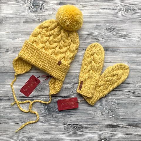Комлект: шапка,варежки