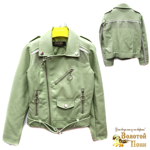 Куртка экокожа девочке (6-11) 200305-T1901.2