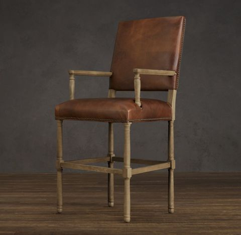 Empire Parsons Leather Stool