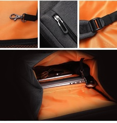 Рюкзак-торба молодёжный для города Tangcool 702 чёрный