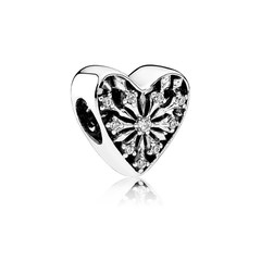 Frosted Heart Charm