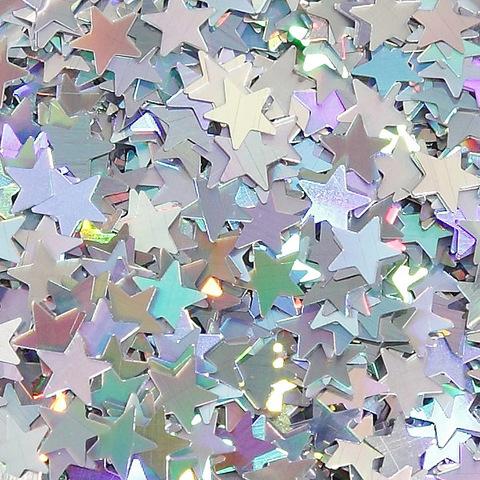Глиттер для мыла Звездочка серебро