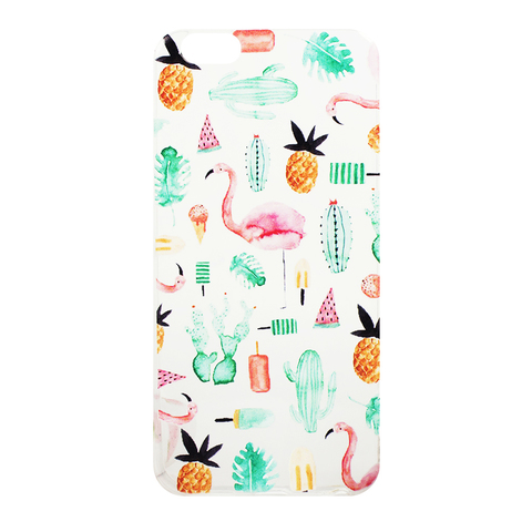Чехол для IPhone 5/5S Flamingo&Pineapple