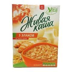 Vita живая каша 5 злаков, микс из 100% пророщенного зерна и хлопьев 300 г