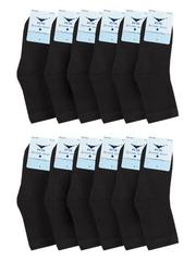 3047 носки подростковые (12 шт), черные