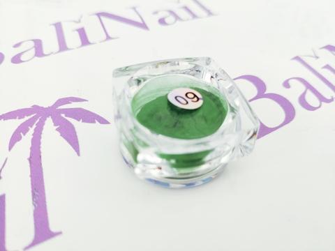 Термо-пигмент для дизайна ногтей (темно-зеленый) #09