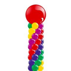 Колонна из шаров с большим шаров