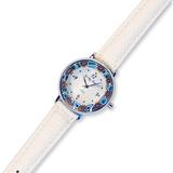 Часы на белом кожаном ремешке из муранского стекла (нет в наличии)