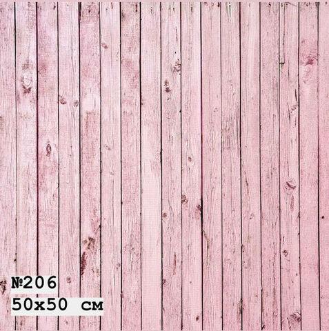 Фотофон виниловый «Светло-розовые доски» №206
