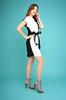 Платье Арина черное с белым
