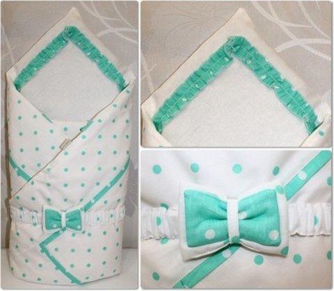 Плед конверт для новорожденных Рандеву салатовый