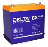 Аккумулятор DELTA GX 12-55 ( 12V 55Ah / 12В 55Ач ) - фотография