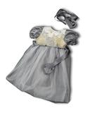 Платье из тафты - Серый. Одежда для кукол, пупсов и мягких игрушек.