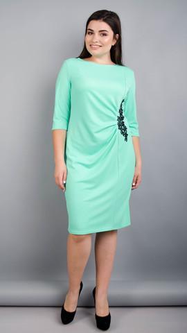 Тейлор. Гарна жіноча сукня плюс сайз. М'ята.