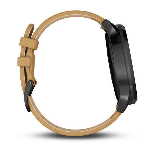 Vivomove HR черный оникс с светло-коричневым кожаным ремешком