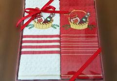 Набор вафельных салфеток Новый год КОРЗИНКА 2пр 45х70  La Villa Турция
