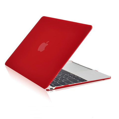 Накладка пластик MacBook Pro 12 Retina /matte red/
