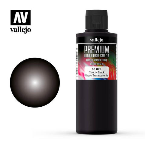 Premium Airbrush Candy Black 200 ml.