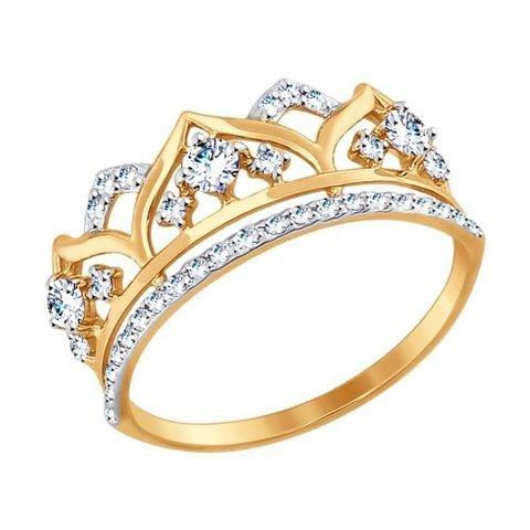Кольцо из золота с фианитами арт. 017416 SOKOLOV