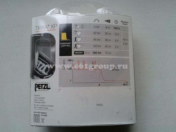 светодиодный фонарь Petzl TIKKA XP черный отзывы