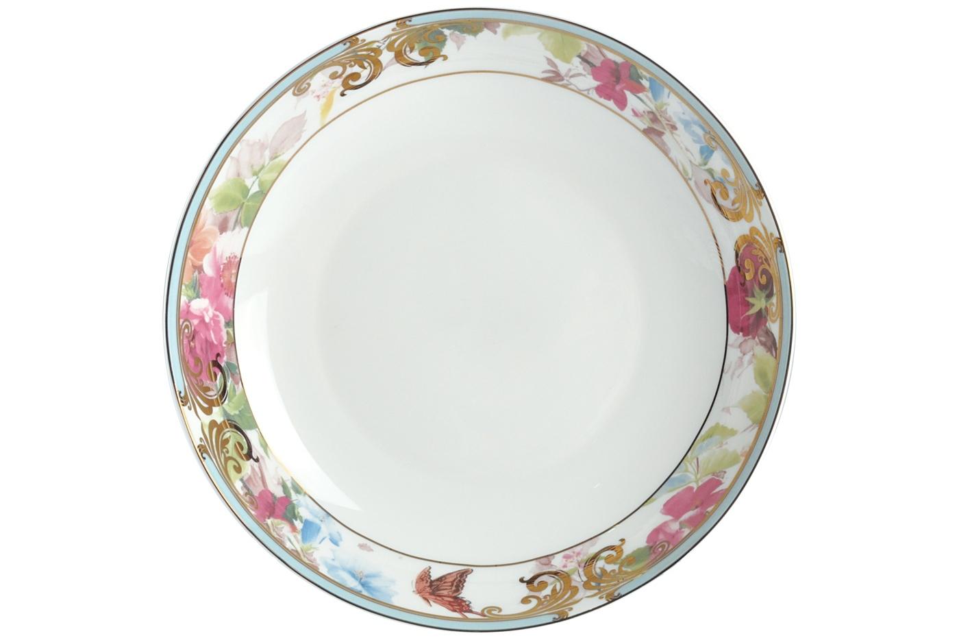 """Набор из 6 тарелок суповых Royal Aurel """"Цветущий сад"""" (20см) арт.725"""