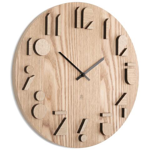 Часы настенные shadow натуральное дерево