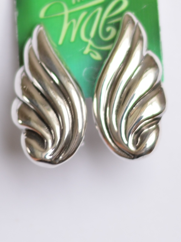 Крылья (серьги из серебра)