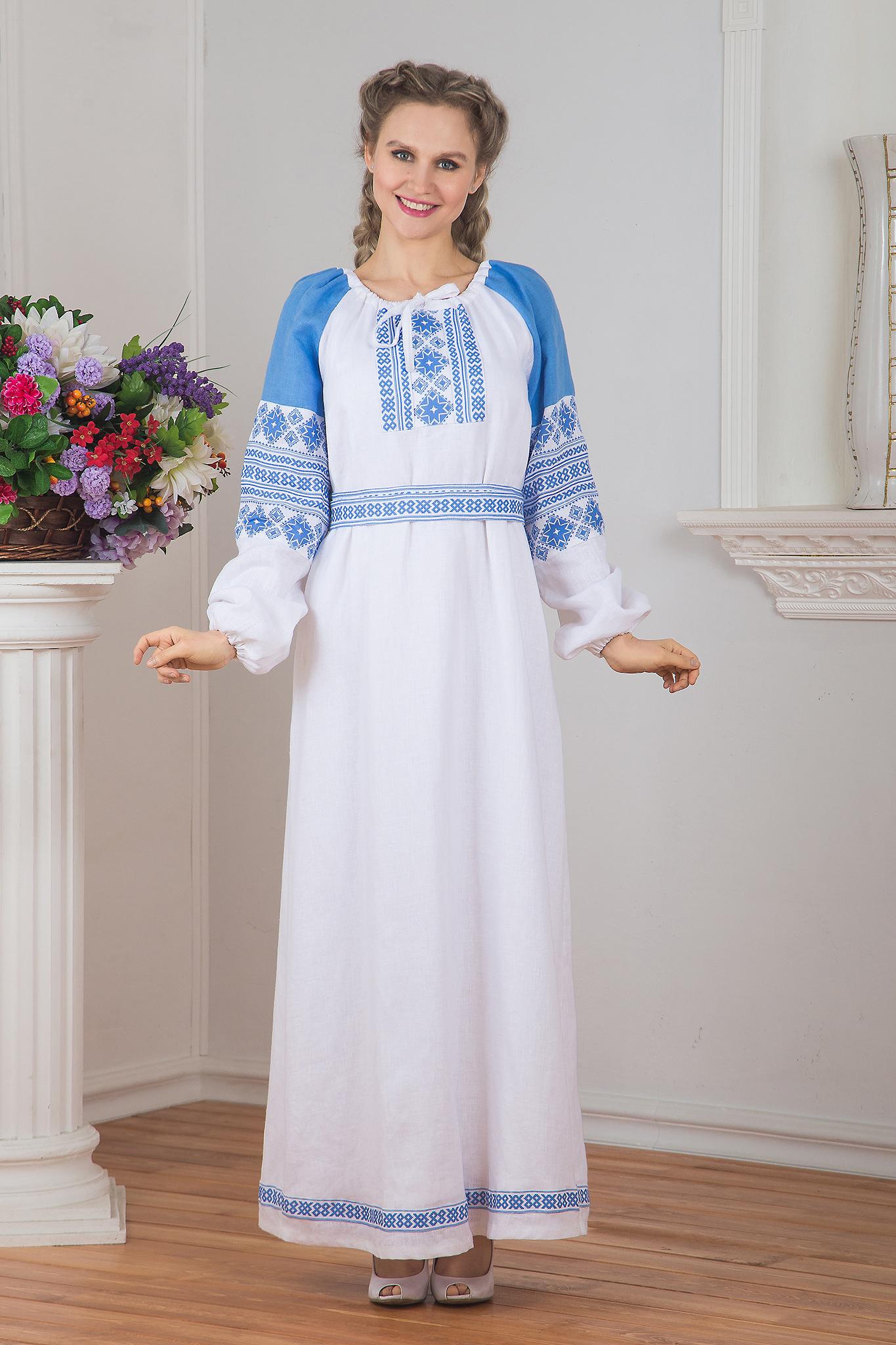 Платье Репейник счастья (белое)