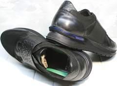 Полностью черные кроссовки мужские Luciano Bellini 1087 All Black