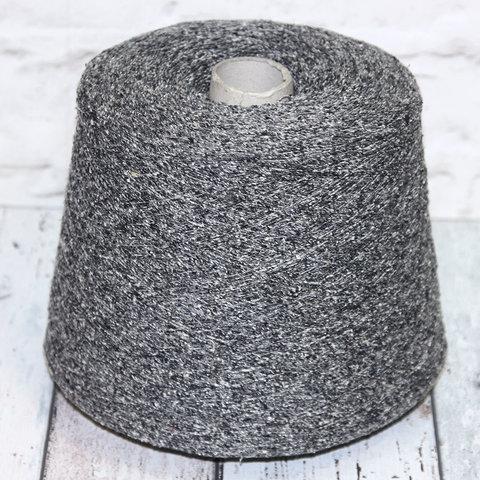 Буретный шелк (100%)  FILATI BURATTI 780 твид серый с бежевыми вкраплениями